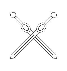 Cross rapiers thin line icon vector