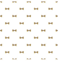 cute smile bow pattern seamless vector image