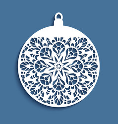 Cutout christmas ball vector