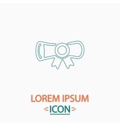 Diploma computer symbol vector