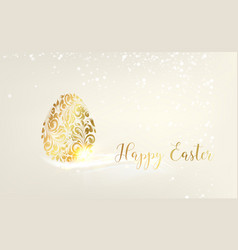 easter egg with biege background happy easter vector image