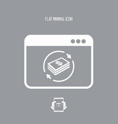 financial web services - dollars vector image