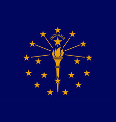 Flag of indiana in united states vector