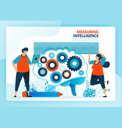 for measure and develop intelligence education vector image