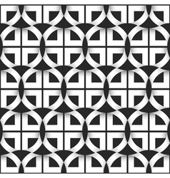 Geometric seamless pattern of black and white vector