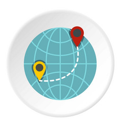 Globe icon circle vector