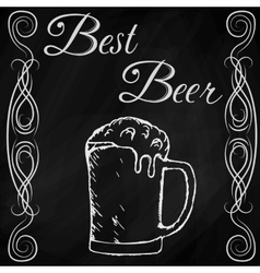 hand drawn sketch of beer vector image