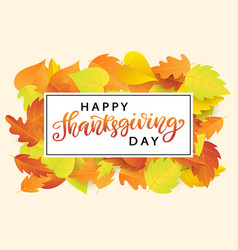 Happy thanksgiving day poster template vector