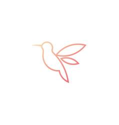Humming bird logo design template icon element vector