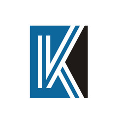 k letter simple logo vector image