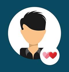 lover avatar vector image
