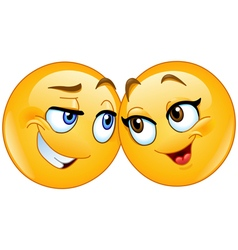 loving emoticons vector image