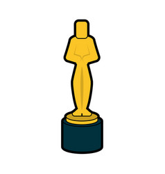 Male human shape trophy award icon image vector