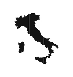 map italy icon flat style vector image