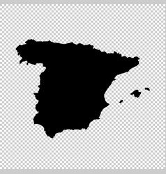 map spain isolated black on vector image
