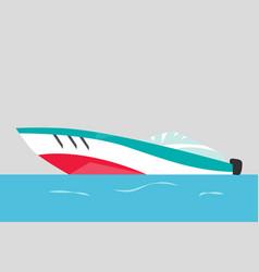 modern motorboat ship at sea transport vector image