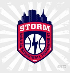 Modern professional basketball logo for sport team vector