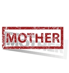 MOTHER outlined stamp vector