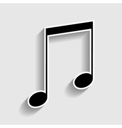 Music sign Sticker style icon vector image