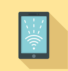 nfc tablet icon flat style vector image