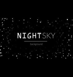 night stars sky background vector image