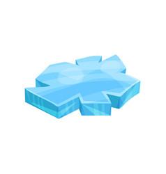 Piece ice iceberg vector
