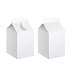 realistic carton milk vector image