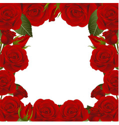 Red rose flower frame border2 vector