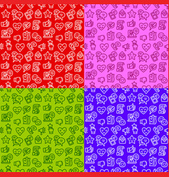 relationship seamless patterns vector image