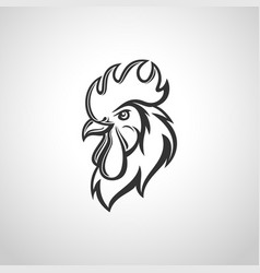 rooster head image vector image