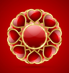 Rosette made of hearts vector image
