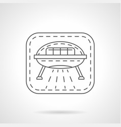 Science fiction flat line icon vector