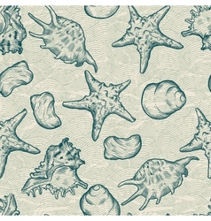 Sea Shells Pattern Background vector image