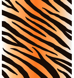 Seamless pattern black tiger stripes vector