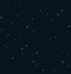seamless pattern sky with stars vector image