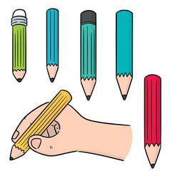 set of pencil vector image