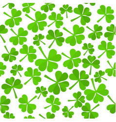 shamrock leaves pattern vector image