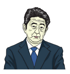 Shinzo abe the prime minister of japan cartoon vector