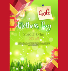 Shopping sale happy mother day discount spring vector