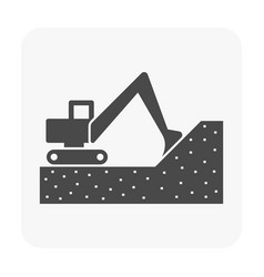 soil excavation equipment vector image