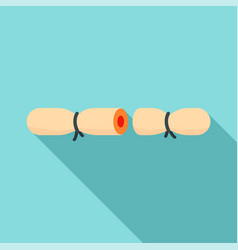 strip contraceptive icon flat style vector image