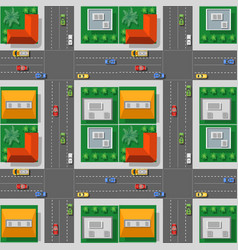 Top view from traffic transport vector