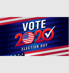 vote 2020 presidential election usa with flag vector image
