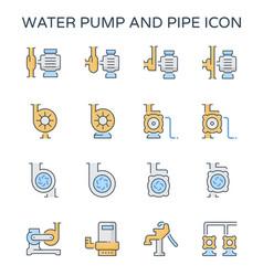 Water pump icon vector