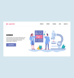 Web site gradient design template science vector