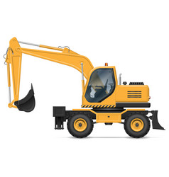 wheel excavator side view vector image