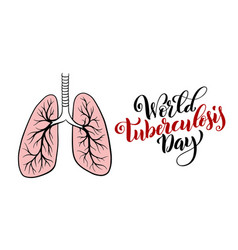World tuberculosis day march 24 template vector