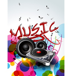 Abstract music background design vector
