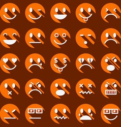 icon face 14 1 l shad or d VS vector image