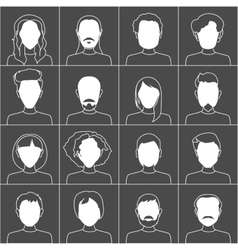 People icons Set of stylish people icons in black vector image vector image